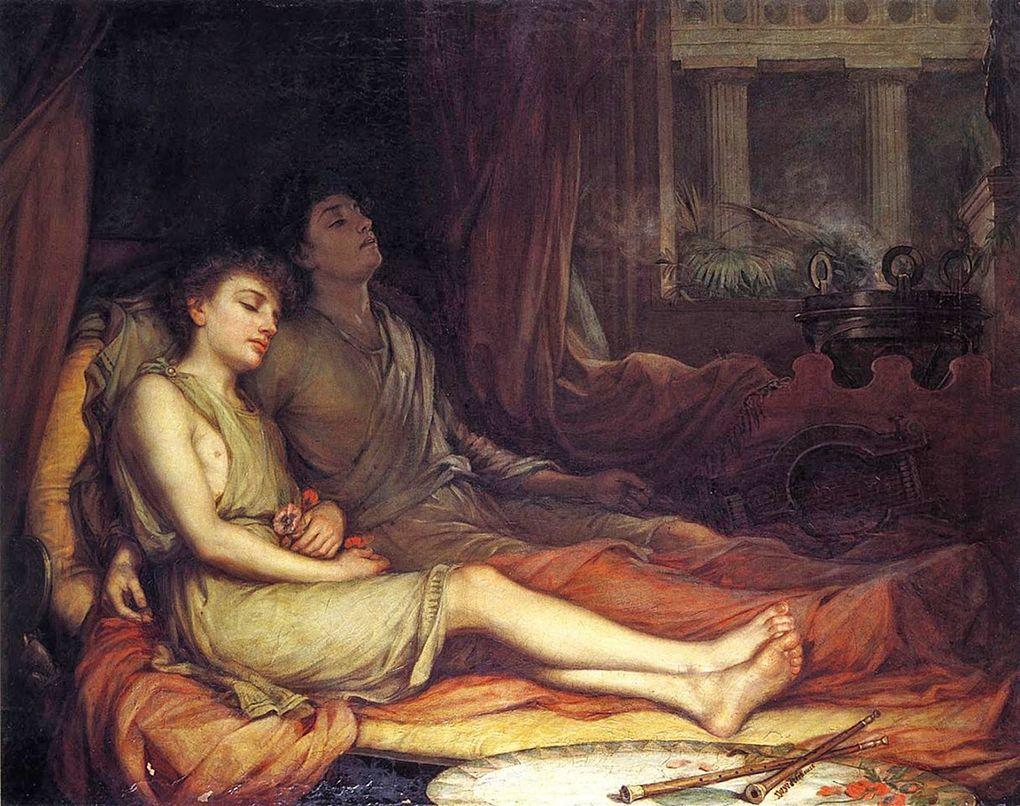 John William Waterhouse Sen i jego półbrat Śmierć