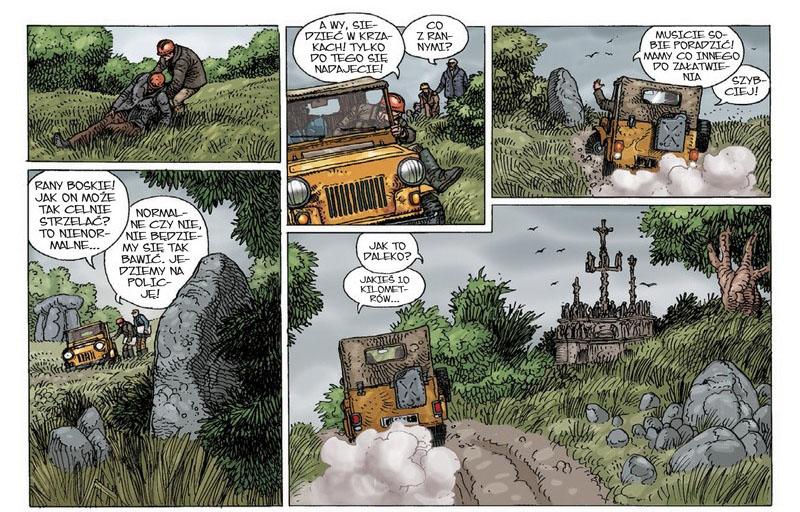"""""""Legendy naszych czasów"""" - fragment planszy komiksu"""