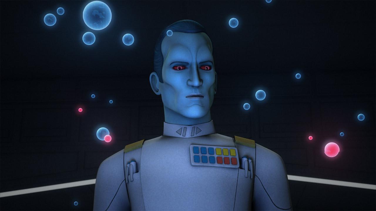 """Wielki Admirał Thrawn - kadr z serialu """"Star Wars: Rebelianci"""""""