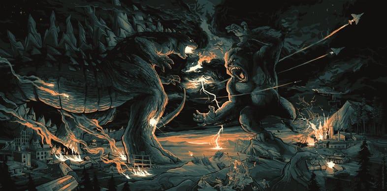 Godzilla-vs-King-Kong-by-Charlie-Layton