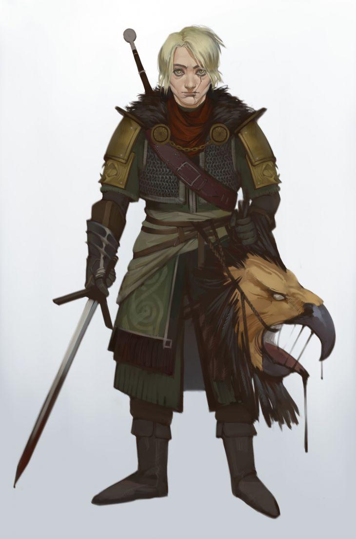 Wiedźminka - postać oryginalna. Autorka: Darya Guryeva. Żródło