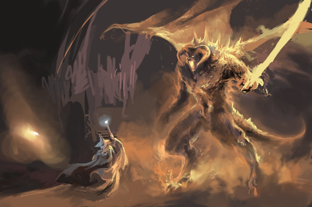 gandalf_and_balrog_by_niuner