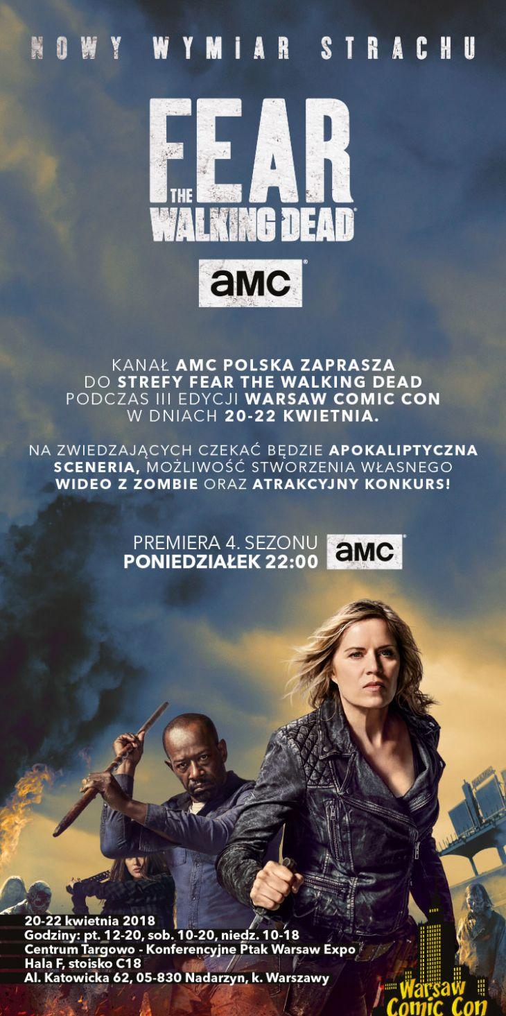 FearTWD AMC na Warsaw Comic Con_zaproszenie