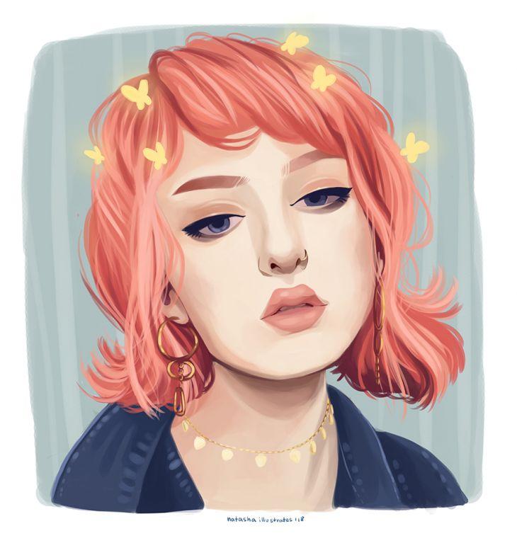 portret ilustratorki Eve