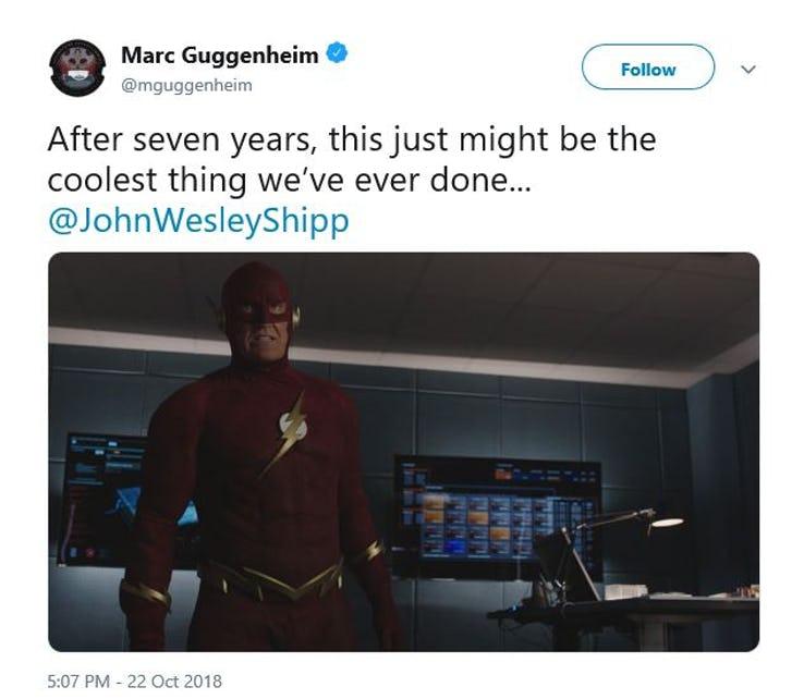 Marc-Guggenheim-Tweet-On-John-Wesley-Shipps-Original-Flash-Costume