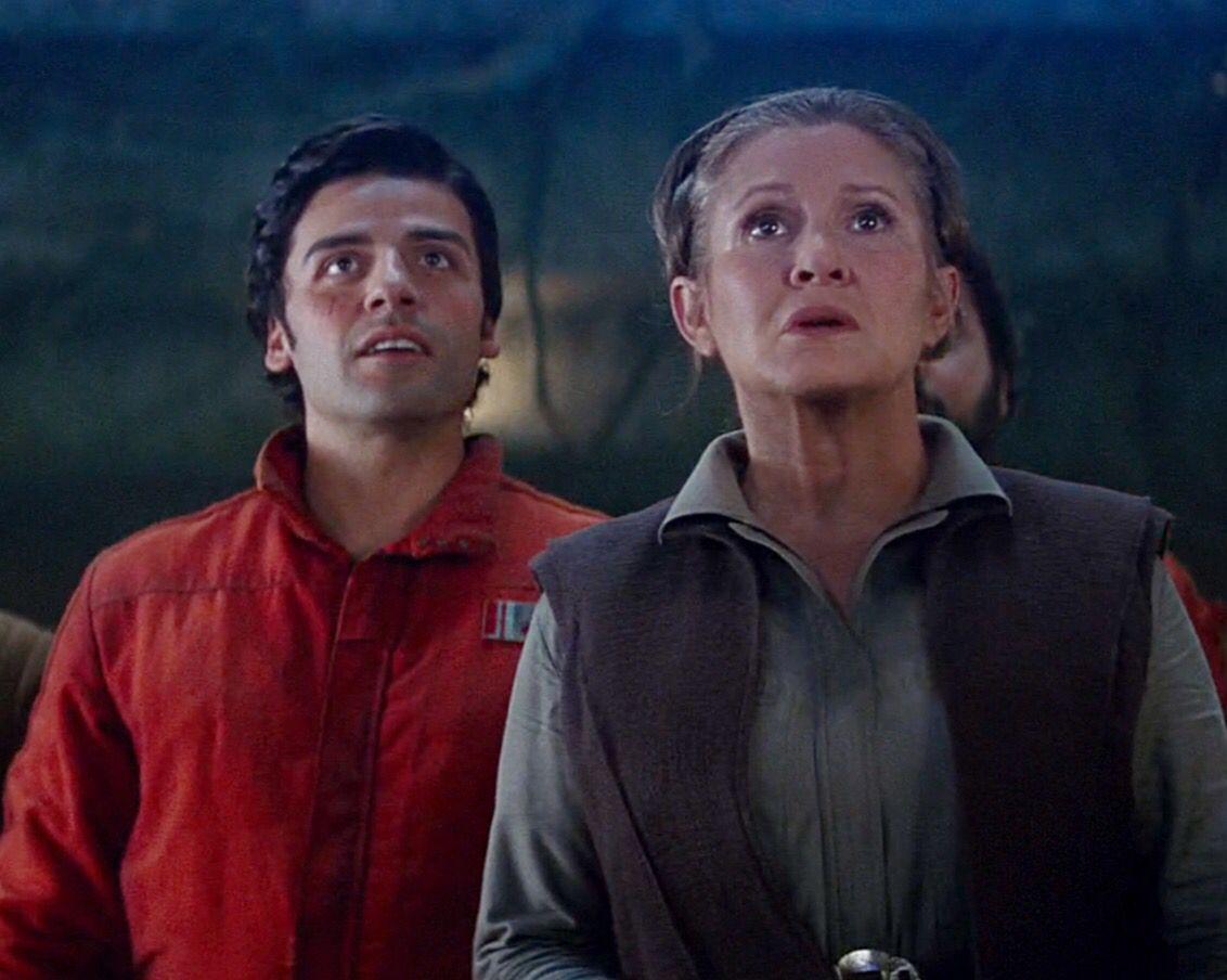 Oscar Isaac Carrie Fisher