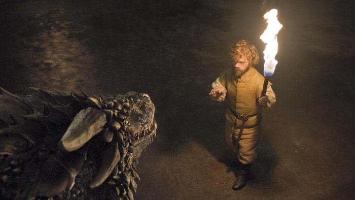 Tyrion Lannister i smok