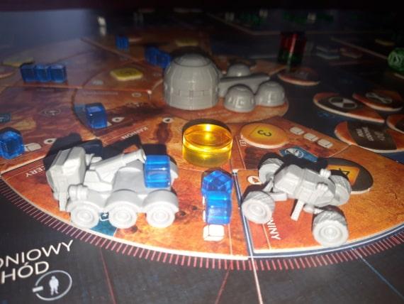 Pierwsi Marsjanie - baza i pojazdy
