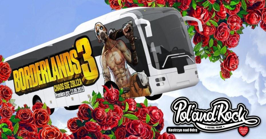 Pojedź za darmo imprezowym autokarem Borderlands 3 na Pol'and'Rock Festival 2019