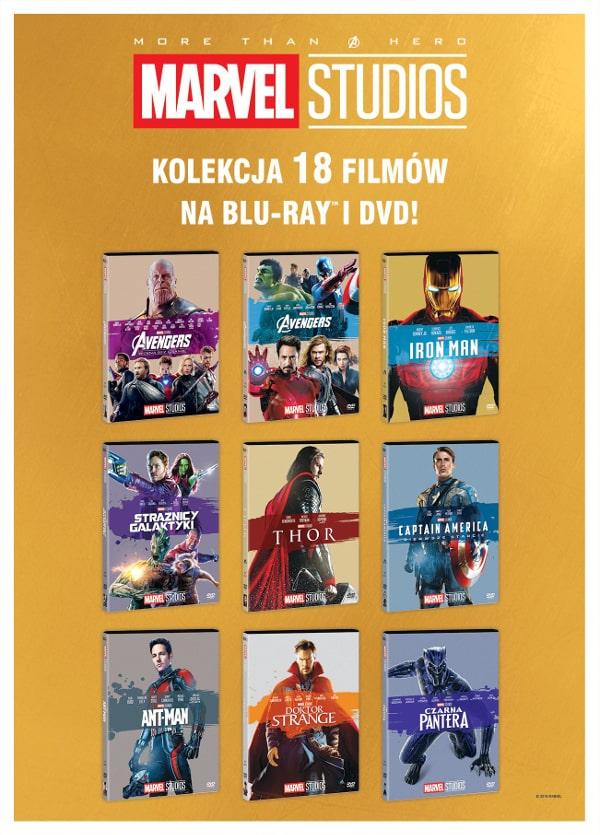 Kolekcja filmów Marvela na DVD i Blue-ray od Galapagos