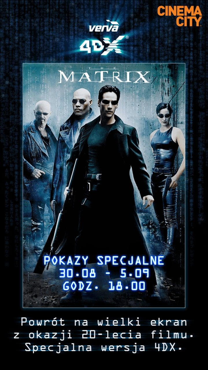 Plakat Matrix verve 4DX od Cinema City