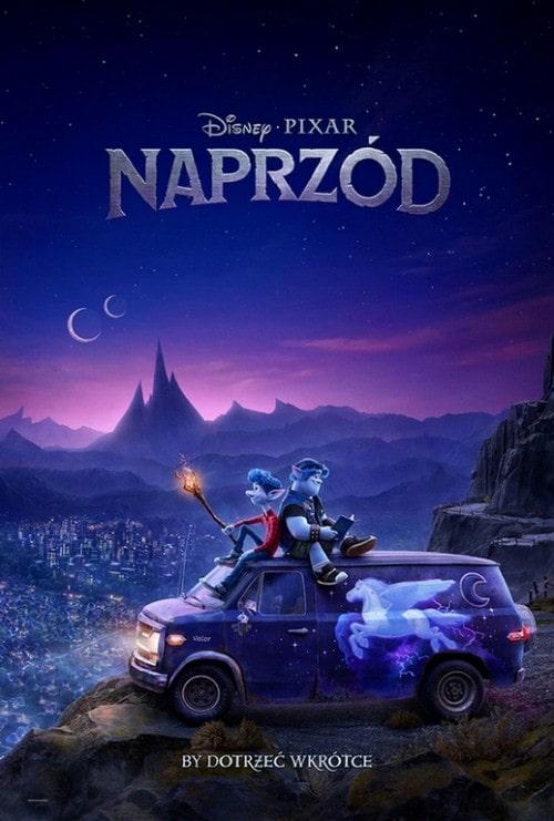 Plakat animacji Naprzód od Disney i Pixar