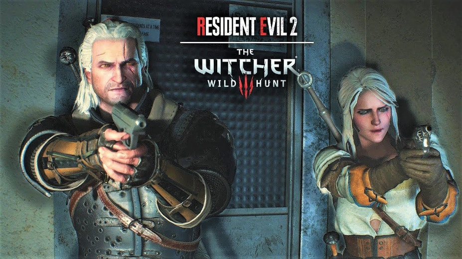 """Ukazał się mod do gry """"Resident Evil 2"""" z wiedźminem!"""