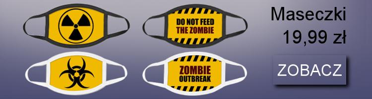 Śmieszne maseczki: biohazard, radioactive, zombie