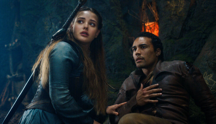 CURSED (L to R) KATHERINE LANGFORD as NIMUE and DEVON TERRELL as ARTHUR in episode 107 of CURSED Cr. COURTESY OF NETFLIX © 2020