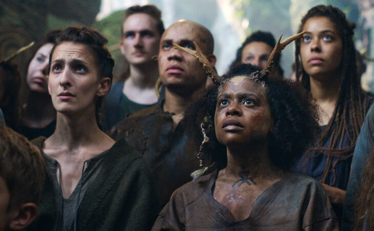 CURSED (L to R) AYESHA ANTOINE as POLLY THE HEALER in episode 107 of CURSED Cr. COURTESY OF NETFLIX © 2020