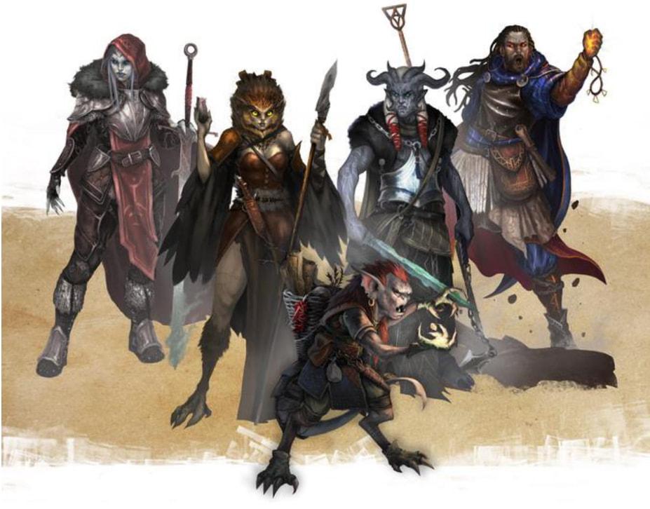 Nightfell RPG, bohaterowie fantasy