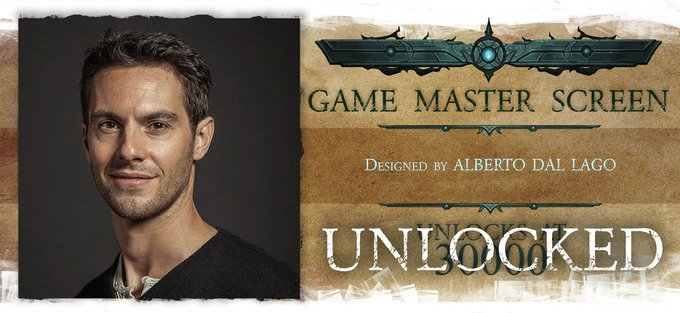 nightfell RPG Alberto Dal Lago Game Master Screen