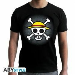 one-piece-t-shirt-skull-with-map-black