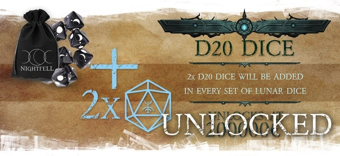 Nightfell RPG kości do gry D20
