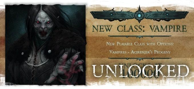 Nightfell RPG klasa wampirów