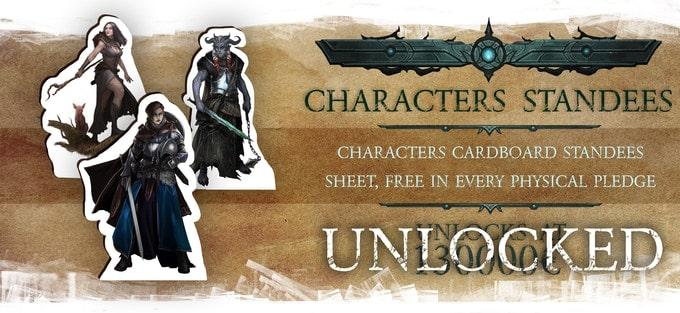 Nightfell RPG kartonowe postaci