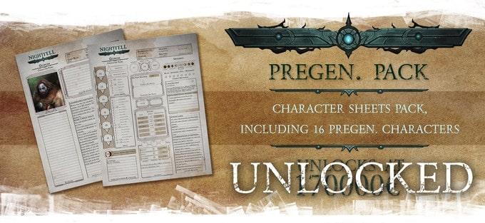 Nightfell RPG karty postaci