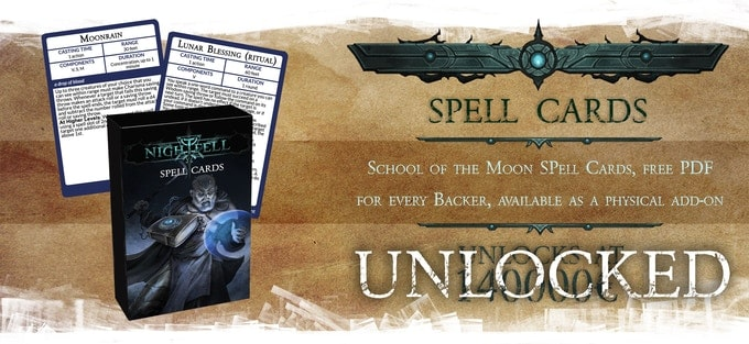 Nightfell RPG karty zaklęć