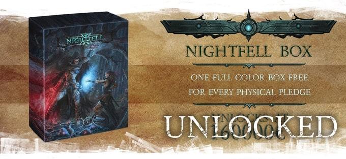 Nightfell RPG kolorowe pudełko