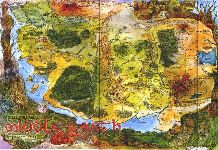 Śródziemie mapa