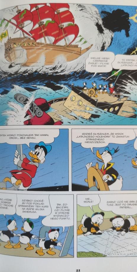 Kaczogród Latający Holender strona z komiksu