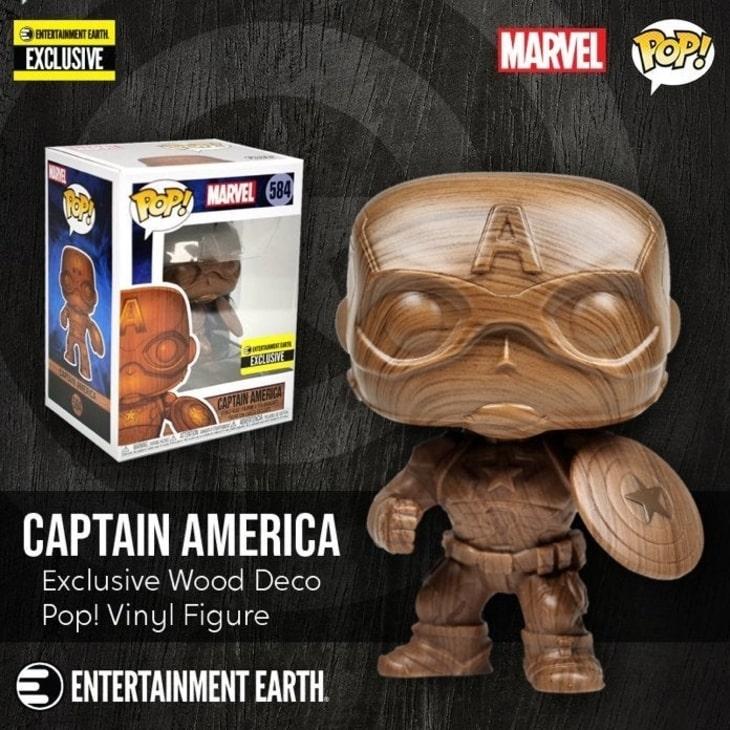 Figurka Kapitana Ameryki w kolekcji Funko POP! Wood Deco