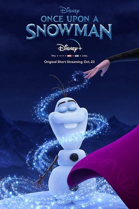 "Plakat filmu ""Once Upon a Snowman'"