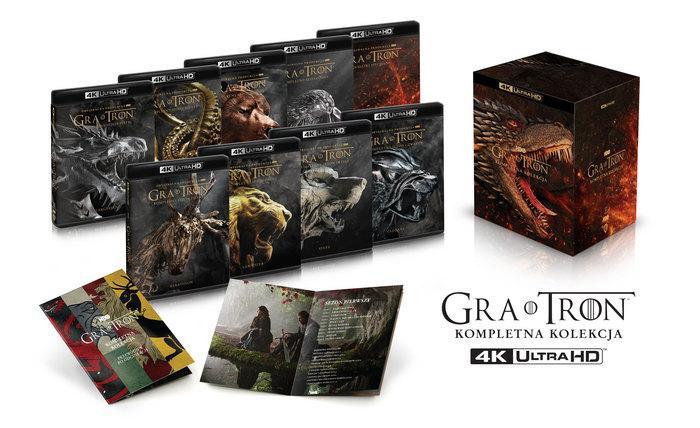 """""""Gra o Tron"""" kompletna kolekcja w jakości 4K na Blu-ray!"""