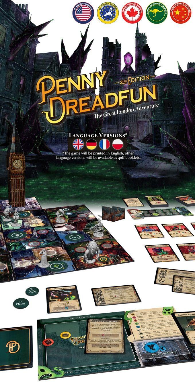 Penny Dreadfun gra planszowa deckbuilding RPG