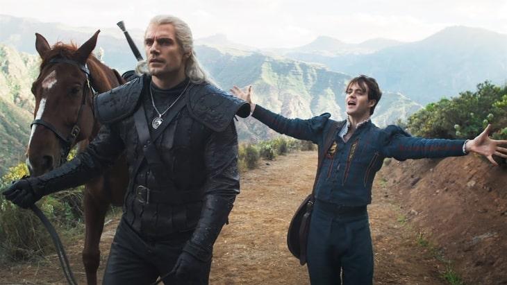 """""""Wiedźmin"""" - Geralt i Jaskier, kadr z serialu"""