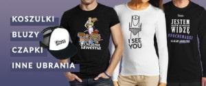 Ubrania: czapeczki, koszulki, bluzy