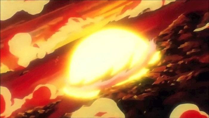 Technika samozniszczenia, Dragon Ball