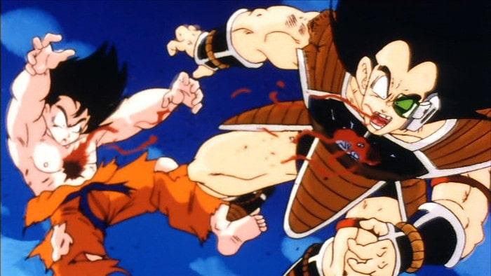 Goku i Raditz z Dragon Ball