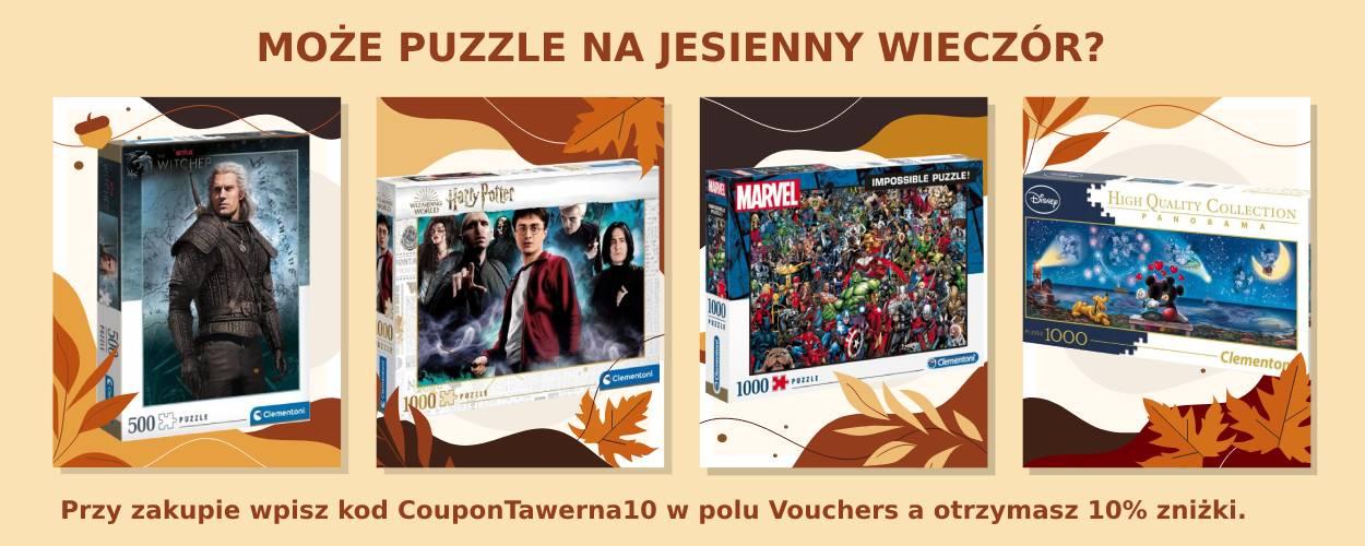 Puzzle na jesień: Wiedźmin, Harry Potter, Marvel, Disney
